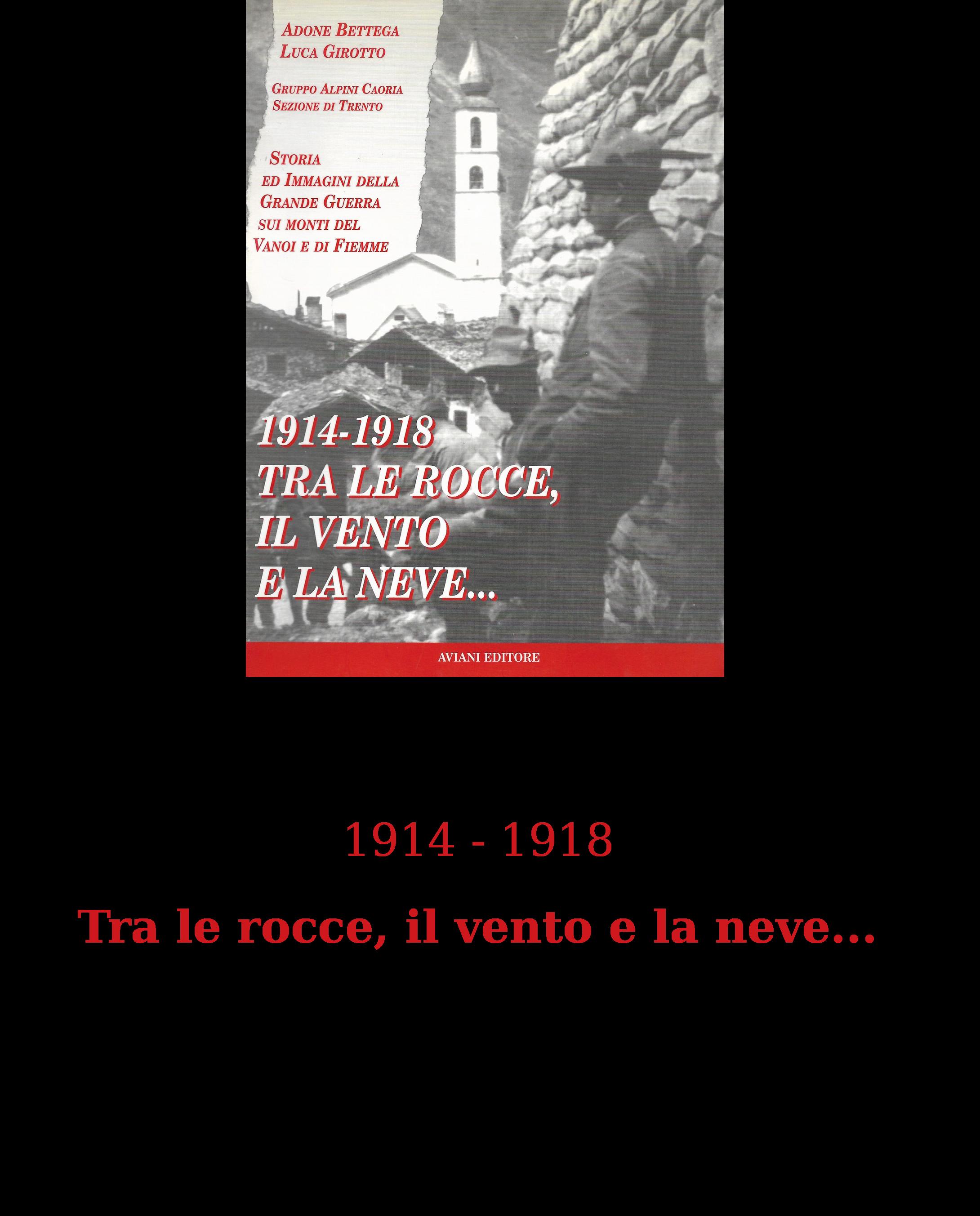 1914 - 1918 Tra le rocce, il vento e la neve...[15801]