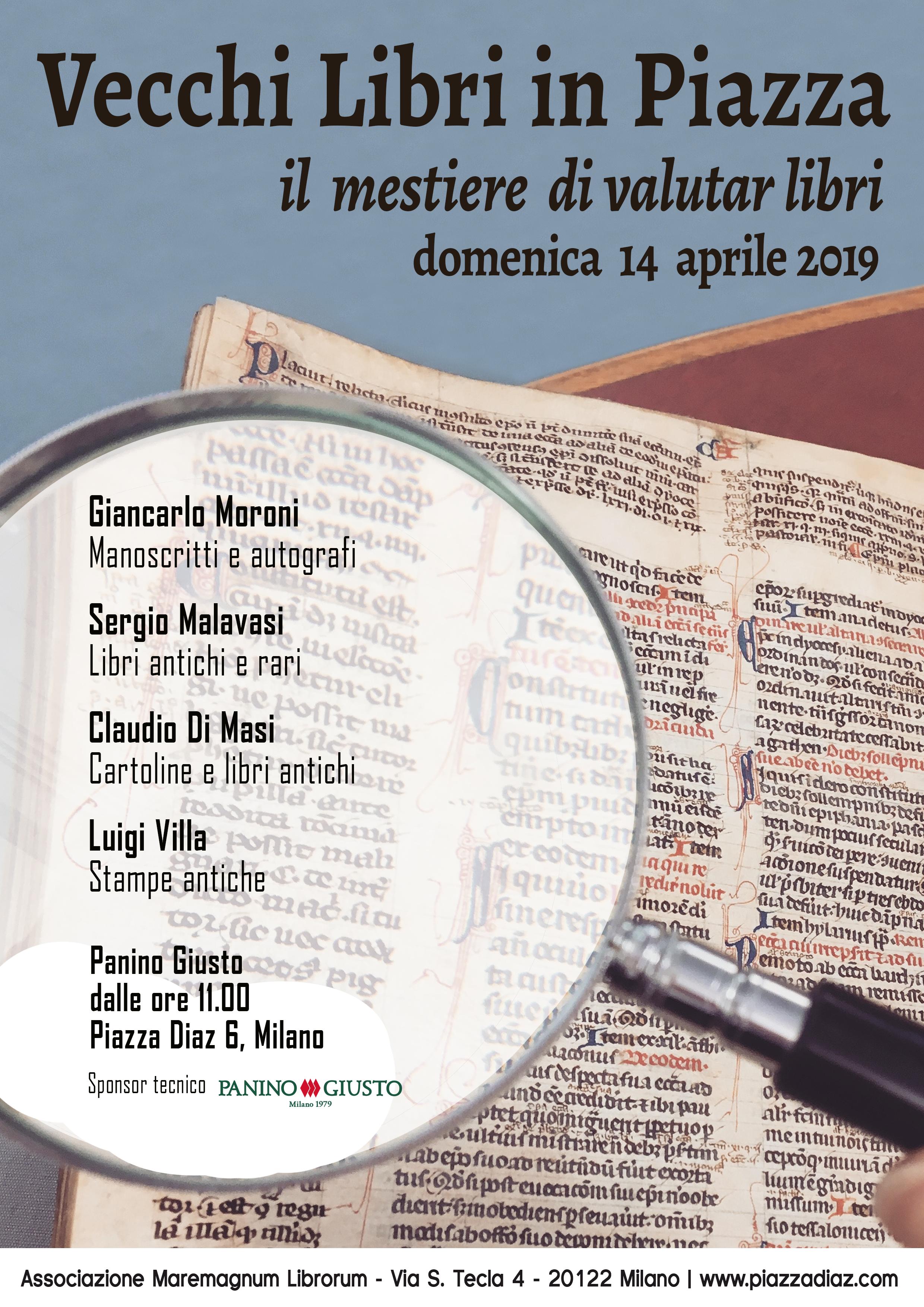 """Conferenza """"Il mestiere di valutar libri"""" – domenica 14 aprile 2019"""