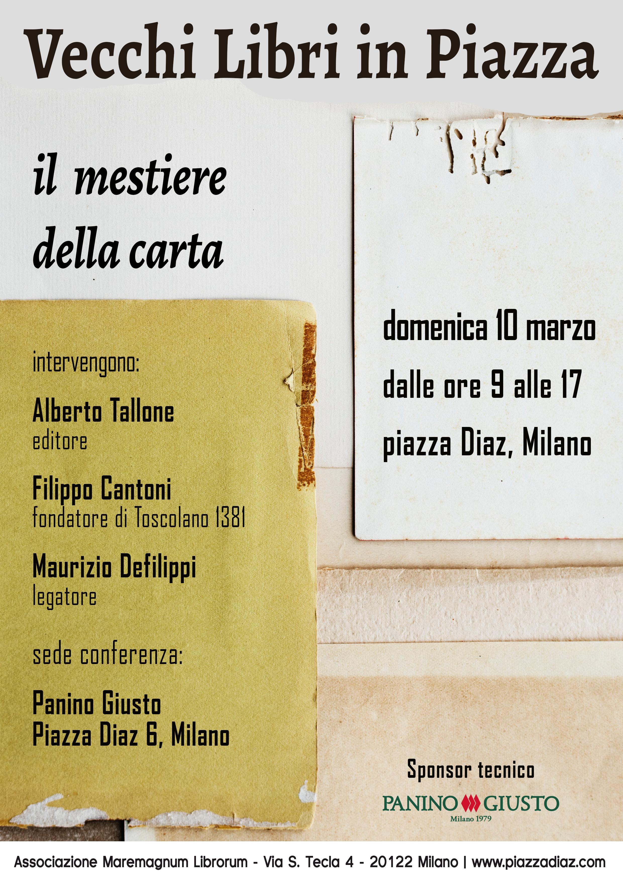 """Conferenza """"Il mestiere della carta"""" – domenica 10 marzo 2019"""